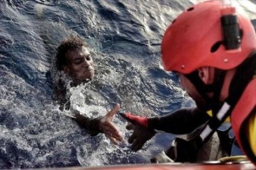 Salvataggio in mare.