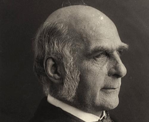 Francis Galton di profilo.