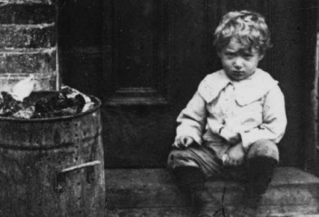 Foto di Jack London da bambino.