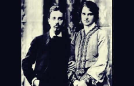 Lou von Salomé e Rainer Maria Rilke.
