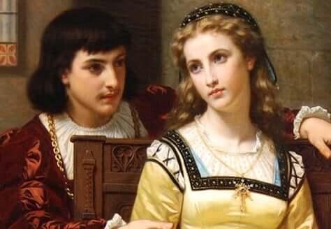 Dipinto di Romeo e Giulietta.