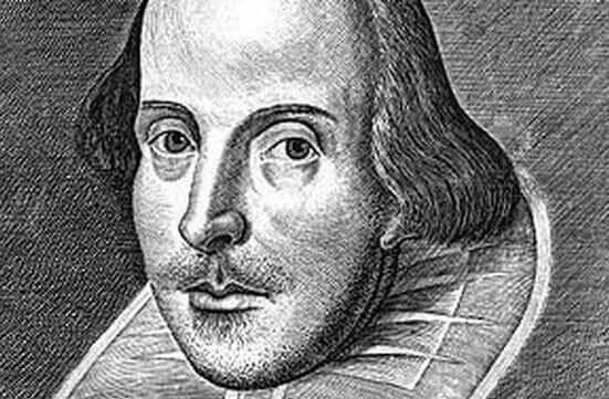 Disegno in carboncino di Shakespeare.