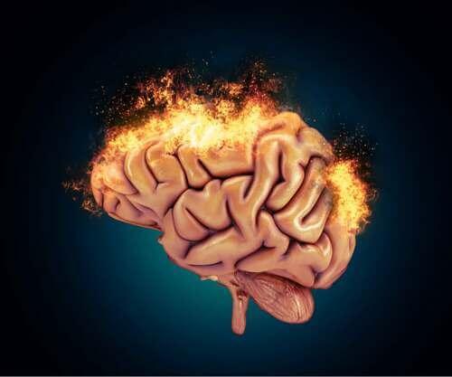 Cervello in fiamme.
