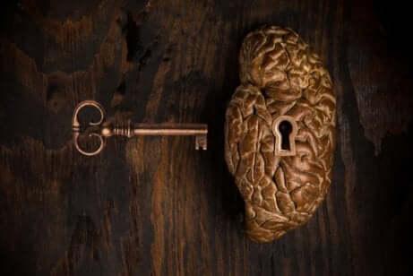 Cervello con serratura.