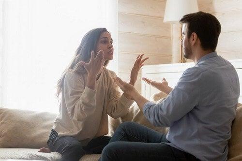 Interazioni negative nella coppia.