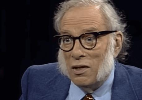 Isaac Asimov durante una intervista.