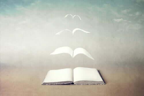 Libro pagine che volano.
