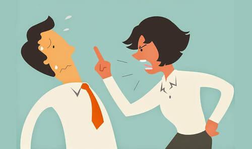 Immagine di due persone che discutono.