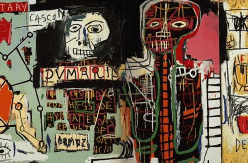 Un esempio della pittura di Basquiat.