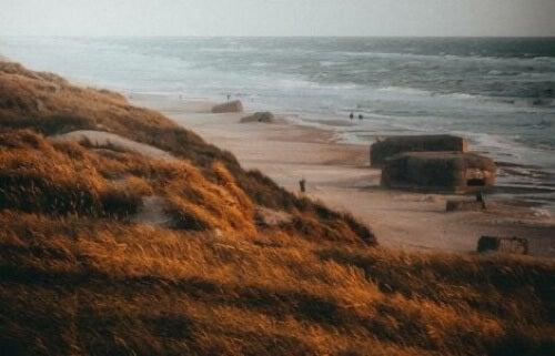 Bunker sulla spiaggia.