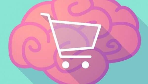 Cervello con carrello della spesa.