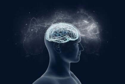 Cervello luce mente persona.