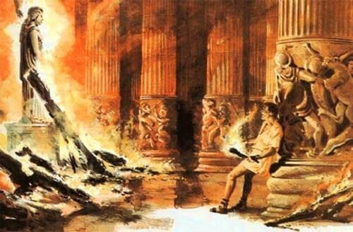 Raffigurazione del complesso di Erostrato.