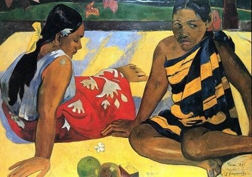 Donne tahitiane.