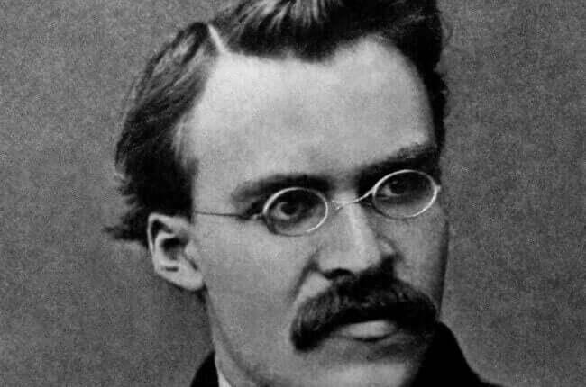 Foto di Nietzsche.