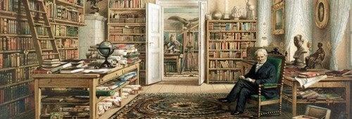 Verne in biblioteca.
