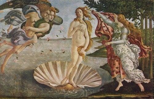La nascita di Venere.