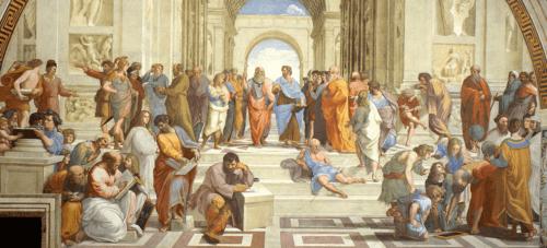 La Scuola di Atene, dipinto di Raffaello.