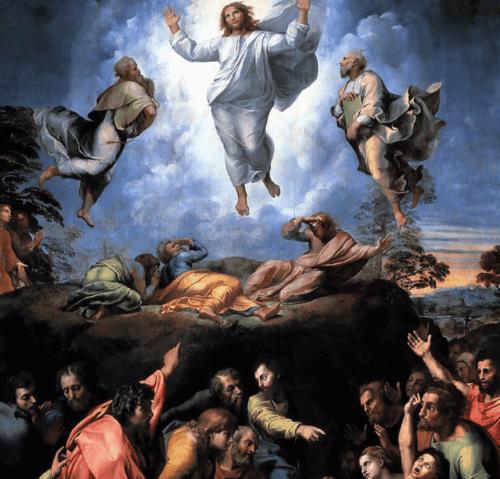 La Trasfigurazione, opera incompiuta di Raffaello Sanzio.