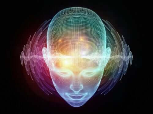 Immagine computerizzata della testa di una persona.