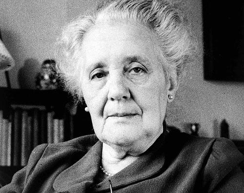 Melanie Klein da anziana.