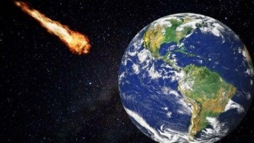 Meteorite contro la Terra.