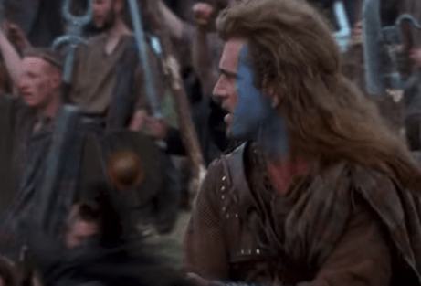 Scena tratta da Braveheart di Mel Gibson.