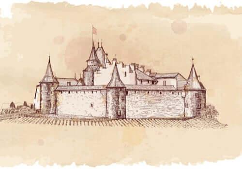 Un castello.