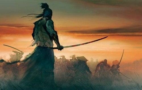 Dipinto di un samurai.