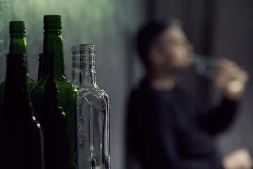 Bottiglie di alcolici.
