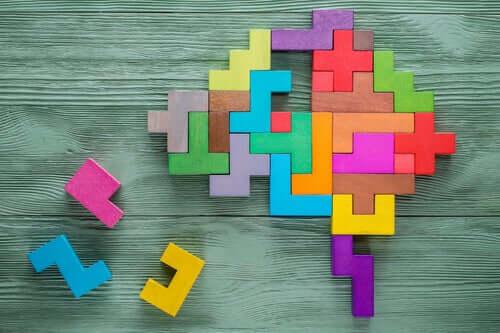 Cervello rappresentato da cubi, le teorie di Binet.