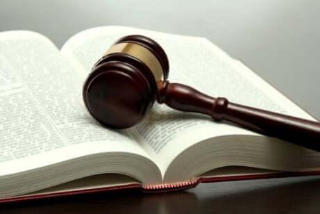 Codice e martelletto del giudice.