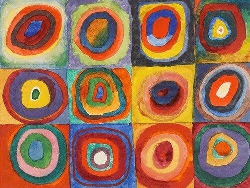 Dipinto di wassily kandinsky.