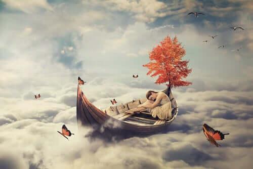 Donna che sogna una barca.