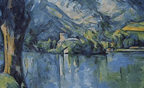 Paesaggio di Paul Cézanne.