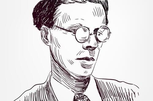 Ritratto di Aldous Huxley.