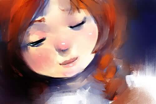 Dipinto di una bambina.