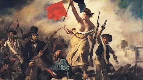 La Libertà che guida il popolo di Eugène Delacroix.