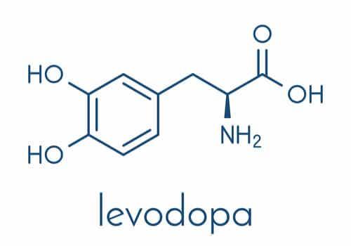 Formula chimica levodopa.