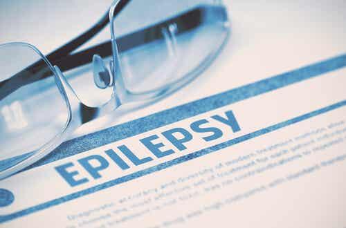 Foglio con la scritta epilessia.