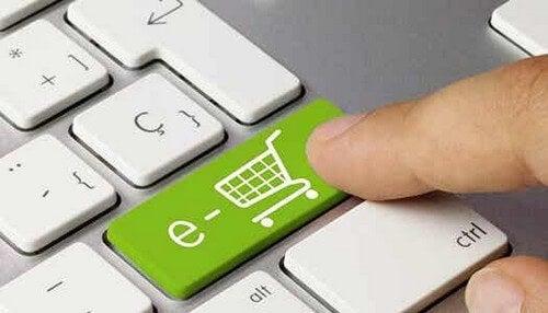 Tasto verde per acquisto online.