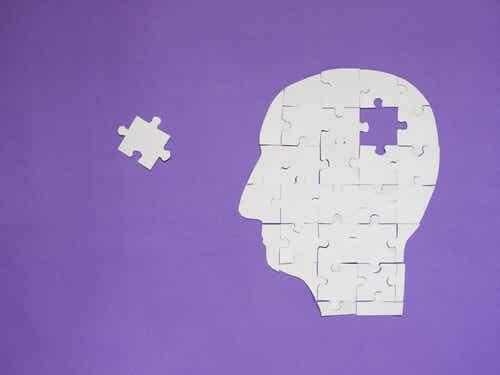 Testa formata dai pezzi di un puzzle.
