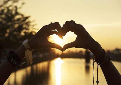 Un cuore al tramonto.