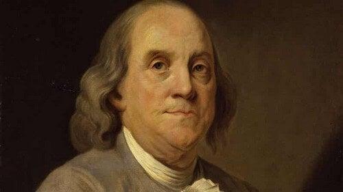 Ritratto di Benjamin Franklin.