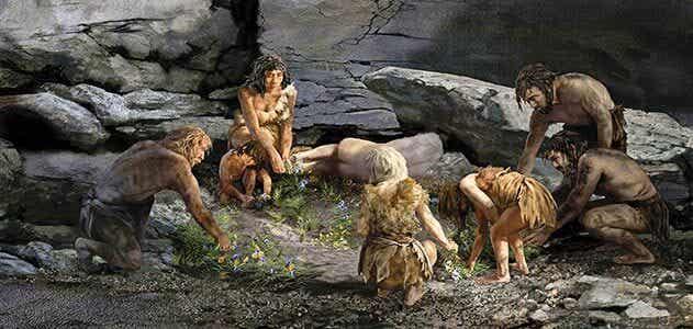 Gruppo di Neanderthal.