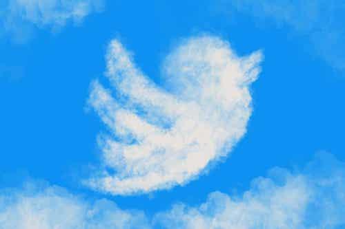 Nuvola che rappresenta il logo di twitter.