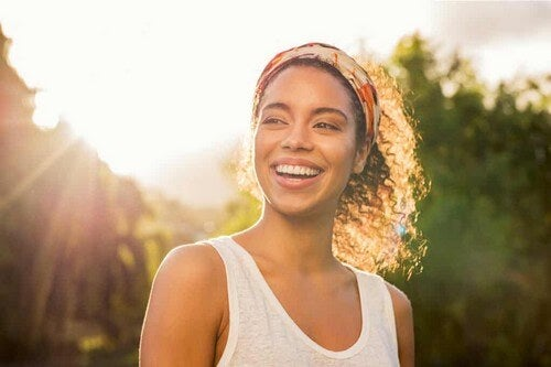 Sorridere per stare bene con se stessi.
